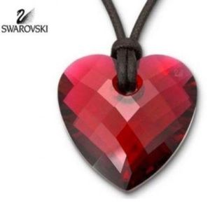 Swarovski Red Heart Crystal Pendant Necklace